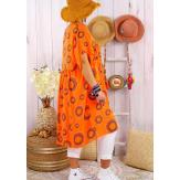 Robe tunique grande taille été bohème SAMBA Orange-Robe tunique femme grande taille-CHARLESELIE94