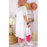 Robe femme été grandes tailles coton MADALENA Blanc-Robe été grande taille-CHARLESELIE94