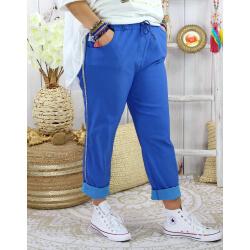 Pantalon femme grande taille stretch TOSCANE Bleu roi Pantalon femme grande taille