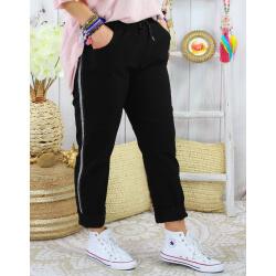 Pantalon femme grande taille stretch TOSCANE Noir-Pantalon femme grande taille-CHARLESELIE94