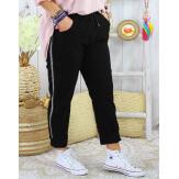 Pantalon femme grande taille stretch TOSCANE Noir Pantalon femme grande taille