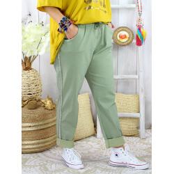 Pantalon femme grande taille stretch TOSCANE Kaki Pantalon femme grande taille