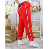 Pantalon femme grande taille stretch TOSCANE Rouge Pantalon femme grande taille