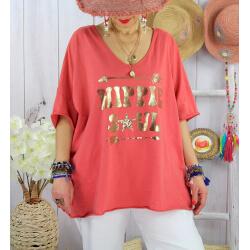T-shirt grande taille femme bohème hippie SOUL Brique-Tee shirt tunique femme grande taille-CHARLESELIE94