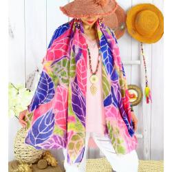 Foulard châle écharpe coloré été imprimé bohème F74-Accessoires mode femme-CHARLESELIE94