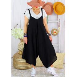 Robe combi lin été grande taille YONI Noir-Robe longue femme-CHARLESELIE94