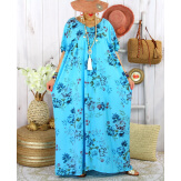 Robe longue été bohème grande taille YAHEL Turquoise Robe été grande taille