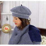 Écharpe étole femme cachemire lurex hiver marine 30AE Écharpe cachemire femme