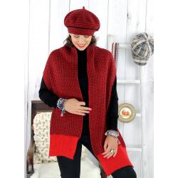 Écharpe étole femme cachemire lurex hiver rouge 30AE Écharpe cachemire femme