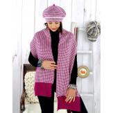 Bonnet béret femme cachemire hiver violet 30AB Béret femme