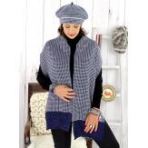 Bonnet béret femme cachemire hiver marine 30AB Béret femme