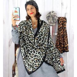 Foulard châle écharpe imprimés animaliers noir FOU28 Foulard femme