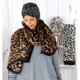 Foulard châle écharpe imprimés animaliers fauve FOU28 Foulard femme