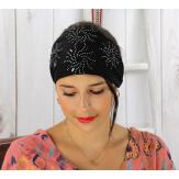 Bandeau turban cheveux femme bijoux strass noir BC2 Accessoires mode femme