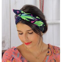 Bandeau turban cheveux femme bleu BC10 Accessoires mode femme