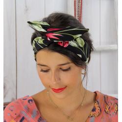 Bandeau turban cheveux femme noir BC11 Accessoires mode femme
