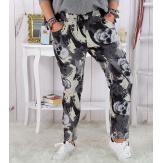 Pantalon femme grande taille stretch suédine noir MARNO Pantalon femme grande taille
