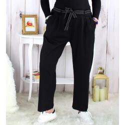 Pantalon femme grande taille stretch noir MOKA Pantalon femme grande taille