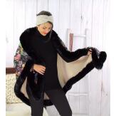 Cape châle grande taille fourrure hiver noir AUSTRALIE Cape fausse fourrure femme