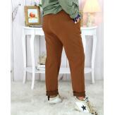 Pantalon femme grande taille stretch rouille MOLIERE Pantalon femme grande taille