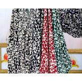 Robe tunique grande taille liberty bohème noir JANNA Robe tunique femme grande taille