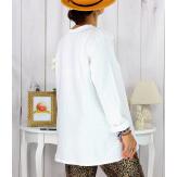 T shirt tunique femme grande taille coton blanc CIRCUS Tee shirt tunique femme grande taille