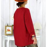 T shirt tunique femme grande taille coton bordeaux CIRCUS Tee shirt tunique femme grande taille