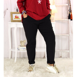 Pantalon femme grande taille stretch noir FLANDRE Pantalon femme grande taille
