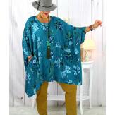 Tunique longue femme grande taille imprimée canard GIMMY Tunique femme grande taille