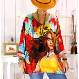 Tunique maille grande taille visage WILLO Tunique femme grande taille