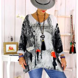 Tunique maille grande taille Paris WILLO Tunique femme grande taille