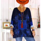 Tunique maille grande taille pompons baroque WILLO Tunique femme grande taille