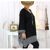 Tunique longue grande taille noir VALENTINE 4 Tunique femme grande taille