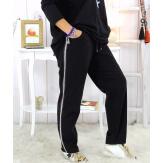 Pantalon femme grande taille stretch noir NEVADA Pantalon femme grande taille