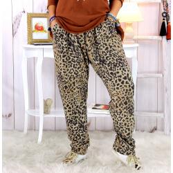 Pantalon grande taille stretch fauve PASSY Pantalon femme grande taille
