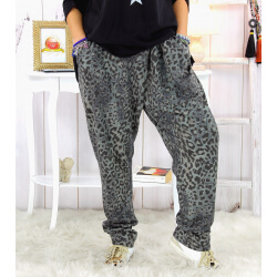 Pantalon grande taille stretch gris PASSY Pantalon femme grande taille