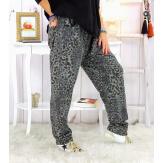Pantalon grande taille stretch gris PASSY Pantalon femme