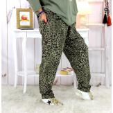 Pantalon grande taille stretch kaki PASSY Pantalon femme grande taille