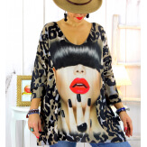 Tunique maille grande taille crazy WILLO Tunique femme grande taille