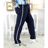 Pantalon femme grande taille stretch marine NEVADA Pantalon femme grande taille