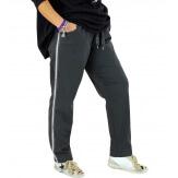Pantalon femme grande taille stretch gris NEVADA Pantalon femme grande taille