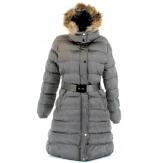 Doudoune longue JOE femme fourrure élevage manteau parka capuche