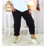 Pantalon legging jogging femme grande taille noir PUNTA Legging grande taille