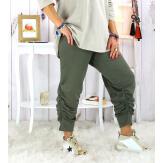 Pantalon legging jogging femme grande taille kaki PUNTA Legging grande taille