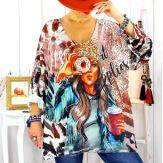 Tunique pull maille grande taille donuts WILLO Pull tunique femme