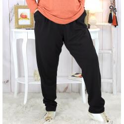 Pantalon grande taille stretch noir PASSY Pantalon femme