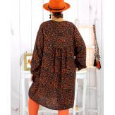 Robe tunique grande taille léopard rouille MISTER Robe tunique femme