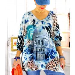 Tunique pull maille grande taille Sacré coeur WILLO Tunique femme