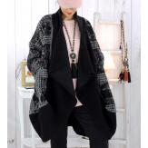 Manteau laine femme grande taille noir MALABAR Manteau hiver femme