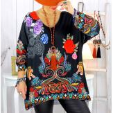 Pull tunique maille douce grande taille WILLO M20 Pull tunique femme
